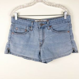 Levi's Superlow 518 Light Wash Denim Shorts Size 9
